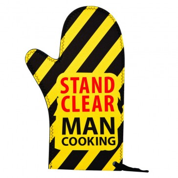 Man Cooking Oven Mitt