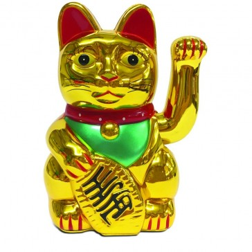 Maneki-neko Japanese Waving Lucky Cat