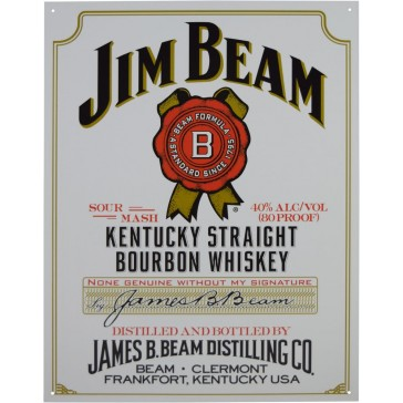 Tin Sign - Jim Beam White Label