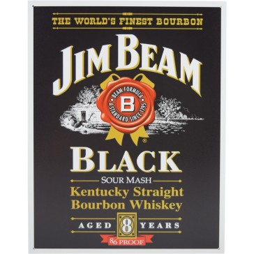 Tin Sign - Jim Beam Black Label