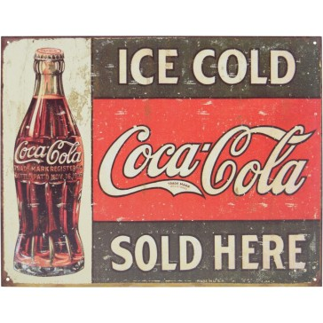 Tin Sign - Ice Cold Coca Cola Served Here