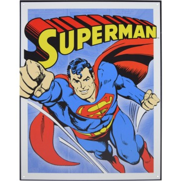 Tin Sign - Superman Retro Panels