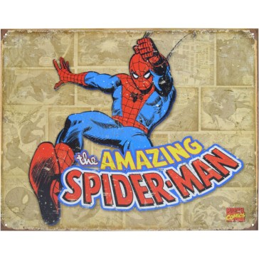Tin Sign - Spiderman Panels