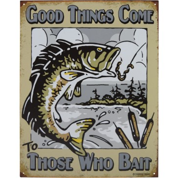 Tin Sign - Those Who Bait