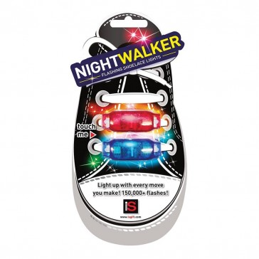 Night Walker Flashing Shoelace Lights - Green/White