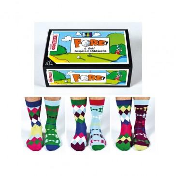 Odd Socks - Fore - 6 Golf Inspired Socks