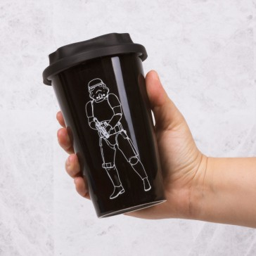 Original Star Wars Stormtrooper Ceramic Travel Mug - Black