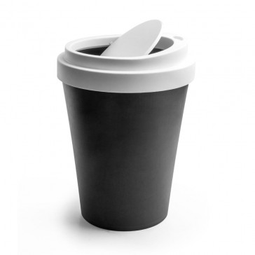 Qualy Coffee Waste Bin - 21cm - Black