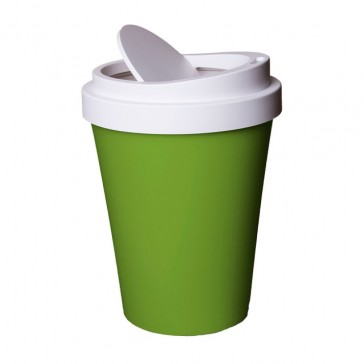 Qualy Coffee Cup Shaped Waste Bin Mini - 21cm - Green