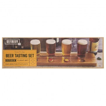 Wooden Beer Tasting Set