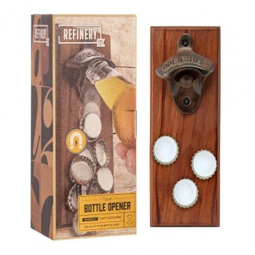 Bottle Opener with Magnetic Catcher
