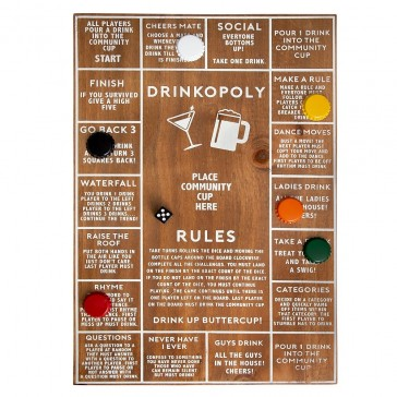 Drinkopoly Wooden Game