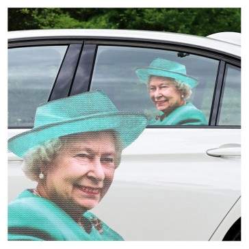 Ride with The Queen Car Window Sticker