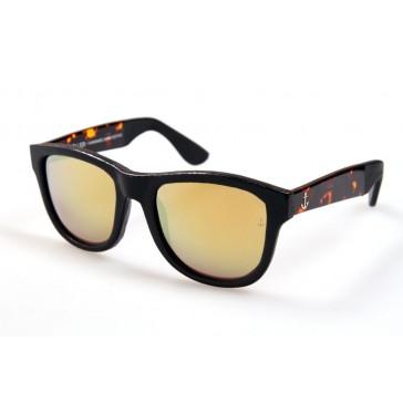 Royal Aquamarine Rockefeller Leather Dark Tortoise Sunglasses