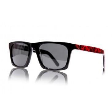 Royal Aquamarine Vanderbilt Midnight Black x Royal Red Sunglasses