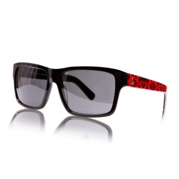 Royal Aquamarine Warhola Midnight Black x Royal Red Sunglasses