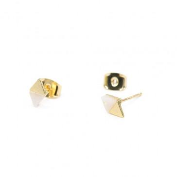 Ocean & Stone Earrings - Diamond White