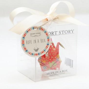 Hope in a Box - Origami Crane Glass Ornament