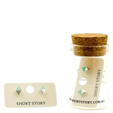Ocean & Stone Earrings - Diamond Blue