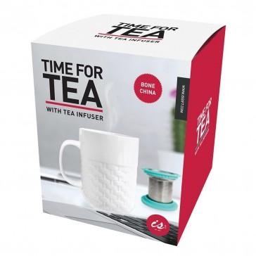 Time For Tea Bone China Mug with Tea Infuser