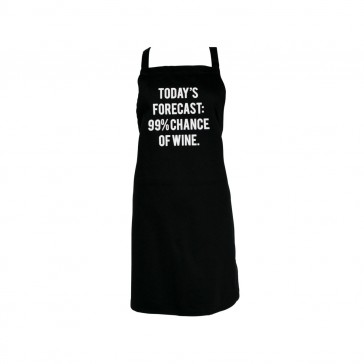 Todays Forecast 99% Chance Of Wine Apron