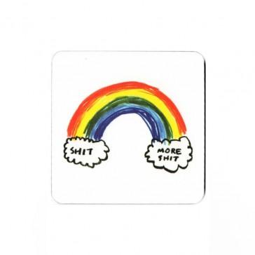 Sh*t Rainbow Drink Coaster