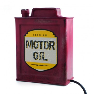 Vintage Motor Oil Table Lamp