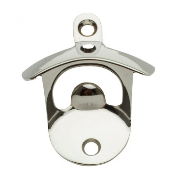Wall Mounted Bottle Opener - Silver