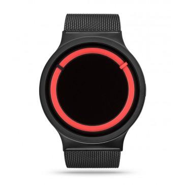 Ziiiro Eclipse Watch Metallic - Black Red