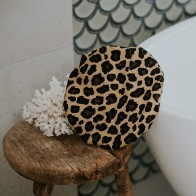 Australian Made Leopard Print 100% Cotton Shower Cap