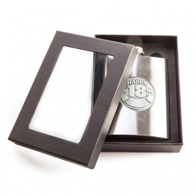 18th Birthday Personalisable Metal Hip Flask