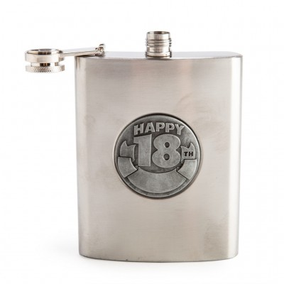 18th Hip Flask Personalisable