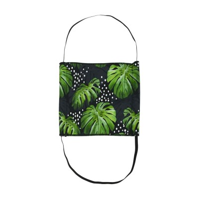 Face Mask - Surgical Style - Monstera Black - Aussie Made
