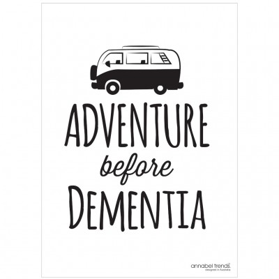 Adventure Before Dementia Tea Towel