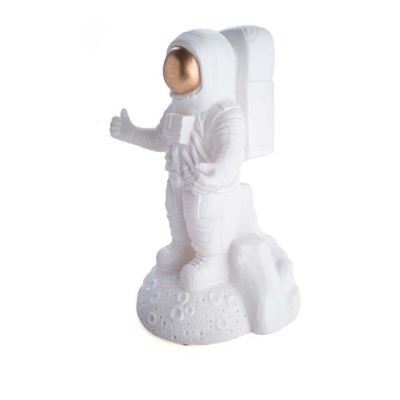 Astronaut Table Lamp Large- White and Gold - Soft Warm LED