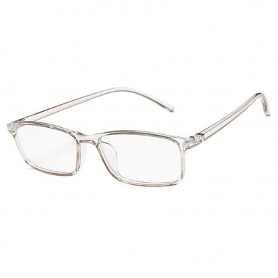 Blue Light Blocking Glasses - Digital Eyewear -Transparent Grey Slim Square
