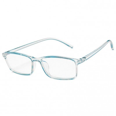 Blue Light Blocking Glasses Baby Blue Transparent Slim Square