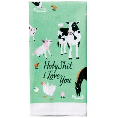 Holy Shit I Love You Tea Towel