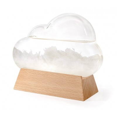 Cloud-Shaped Glass Weather Station