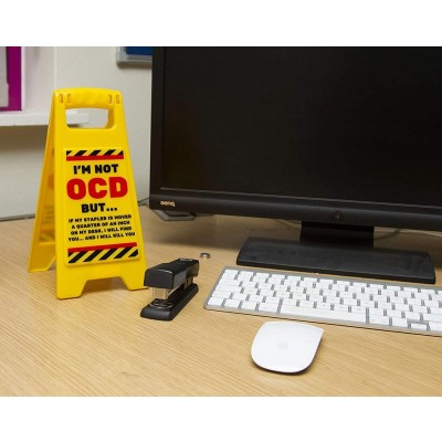 Desk Warning Sign - OCD