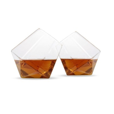 Diamond Whisky Glasses - Set of 2