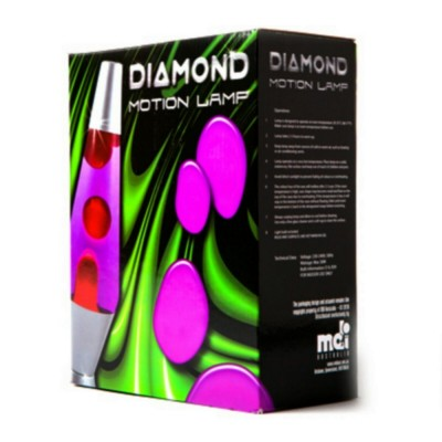 Purple with Pink - Diamond Lava Motion Lamp