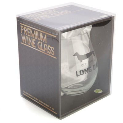 It's Been a Long Day Dachshund Stemless Wine Glass