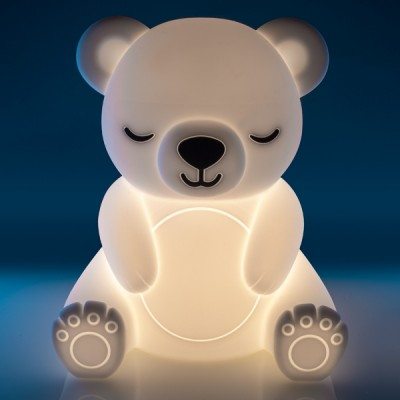 Soft Touch Sensitive LED Bear Night Light