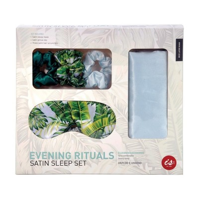 Evening Rituals Satin Pillowcase Sleep Set