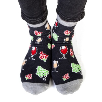 Feet Speak Wine Time Socks
