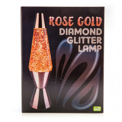 Glitter Diamond Lava Motion Lamp - Rose Gold