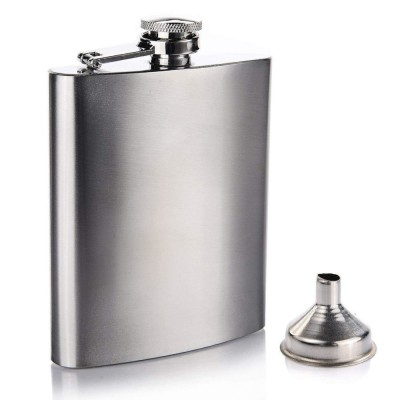 Metal Hip Flask with Funnel