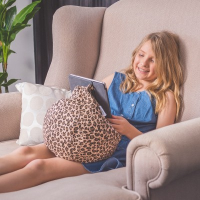 iCrib Tablet Bean Bag Cushion - Animal Print Tan