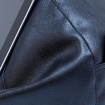 iCrib Tablet Bean Bag Cushion - Black Faux Leather